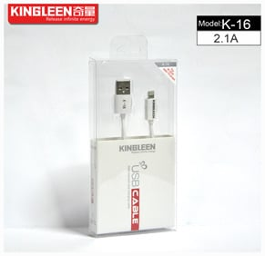USB Cable iPhone 2A KL 1.2 QL-K-16 Kingleen 6957013600588b