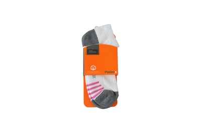 Socks Sport Low Cut / Cush White grey and pink strips S-LC-CS-010 Site 40,41,42,129,130