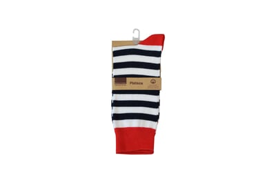 Socks Business Comfort White Blue and Red MS-001 Site 68,69,70,126