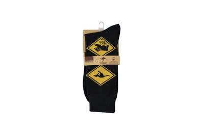 Socks Souvenir Business Black and yellow road signs SB007 Site 75,76,77