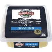 Mainland Swiss Cheese Slices 10pk 180g (6 a box)34295